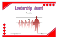 Leadership Award Certificate Template FREE 3