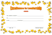 Leadership Award Certificate Template FREE 4