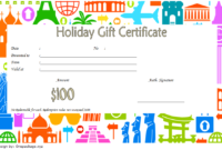 Blank Holiday Gift Certificate Template FREE 1