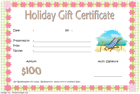Blank Holiday Gift Certificate Template FREE 2