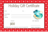 Blank Holiday Gift Certificate Template FREE 3