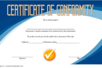 CE Certificate of Conformity Template Free 1