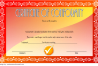 CE Certificate of Conformity Template Free 2