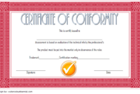 CE Certificate of Conformity Template Free 3
