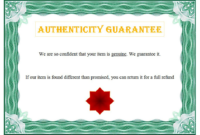 Certificate of Authenticity Art Template Free 1