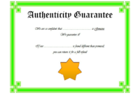 Certificate of Authenticity Art Template Free 2