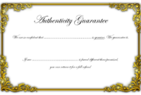 Certificate of Authenticity Jewellery FREE 1