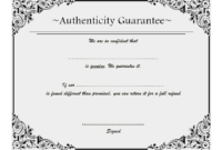 Certificate of Authenticity Jewellery FREE 2