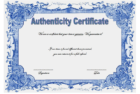 Certificate of Authenticity Jewellery FREE 3