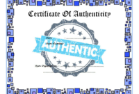 Certificate of Authenticity Printable FREE 2