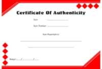 Certificate of Authenticity Printable FREE 3