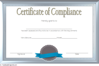 Certificate of Compliance Template Property FREE 1