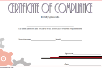 Certificate of Compliance Template Property FREE 4
