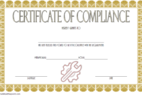 Certificate of Compliance Template Property FREE 5