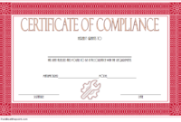Certificate of Compliance Template Property FREE 6