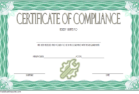 Certificate of Compliance Template Property FREE 7