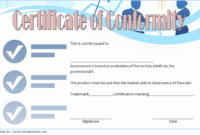Certificate of Conformance Template FREE 1