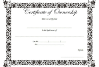 Certificate of Land Ownership Template FREE 1