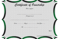 Certificate of Land Ownership Template FREE 2