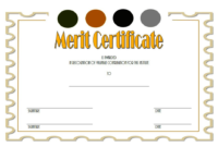 Certificate of Merit High School FREE 1