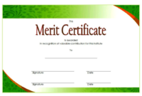 Certificate of Merit High School FREE 2