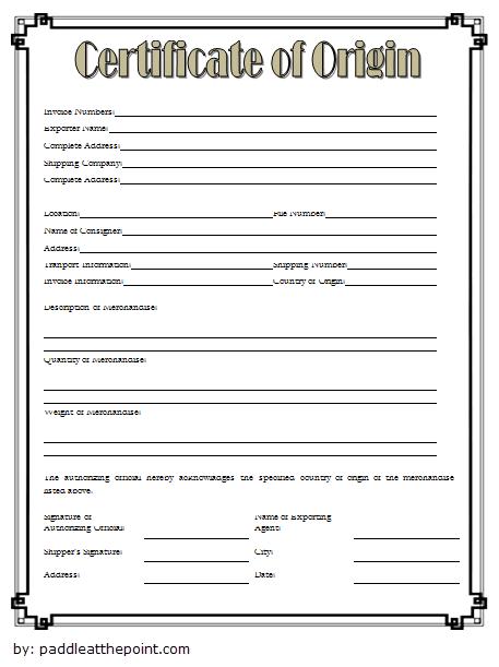 certificate of origin template free, nafta certificate of origin template, certificate of origin for a vehicle, country of origin certificate template, blank nafta certificate origin canada