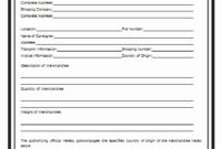 Certificate of Origin Template FREE 3
