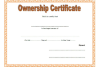 Certificate of Ownership Template FREE 2