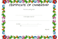 Certificate of Ownership Template FREE 3
