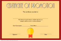 Certificate of Promotion Template Army FREE 2