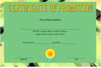 Certificate of Promotion Template Army FREE 3