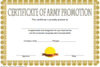 Certificate of Promotion Template Army FREE 4