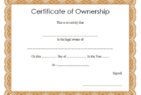 Certificate of Stock Ownership Template FREE 1
