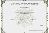 Certificate of Stock Ownership Template FREE 4