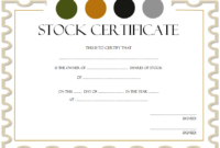 Common Stock Certificate Template FREE 5