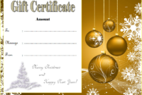 Customizable Christmas Gift Certificate Template 1