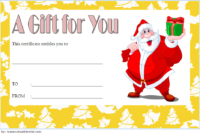 Customizable Christmas Gift Certificate Template 2