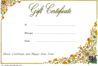 Customizable Christmas Gift Certificate Template 3