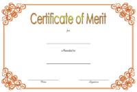 District Award of Merit Certificate Template FREE 1
