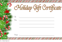 Fill in Christmas Gift Certificate Template FREE 1