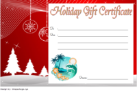 Fill in Christmas Gift Certificate Template FREE 2