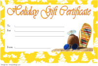 Fill in Christmas Gift Certificate Template FREE 3