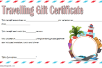 Free Certificate for Travel Agent Printable 1