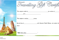 Free Certificate for Travel Agent Printable 2
