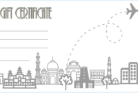 Free Certificate for Travel Agent Printable 3