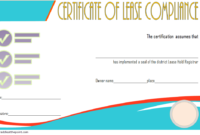 Free Certificate of Compliance Leasehold Template 2