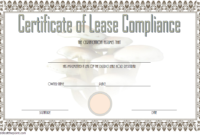 Free Certificate of Compliance Leasehold Template 3