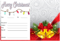 Free Christmas Travel Gift Certificate Template 1