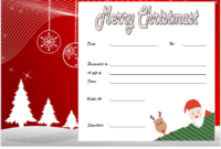 Free Christmas Travel Gift Certificate Template 2