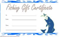 Free Fishing Charter Gift Certificate 2